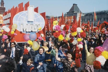 1 мая на Красной площади в Москве состоялся митинг