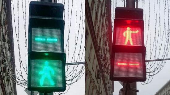 Устанавливается сеть умных светофоров в Москве